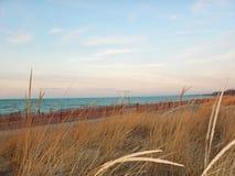 Huron λιμνών παραλία στη μεγάλη κάμψη Οντάριο Καναδάς το χειμώνα Στοκ εικόνα με δικαίωμα ελεύθερης χρήσης