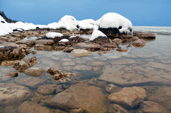 Huron. Lake Huron in mid-January, when it should be frozen Royalty Free Stock Image