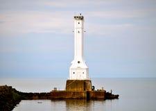 Huron Lighthouse. Huron Ohio Lighthouse - on Lake Erie Stock Photos