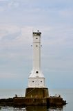 Huron Lighthouse. Huron Ohio Lighthouse - on Lake Erie Royalty Free Stock Photo