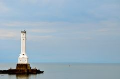 Huron Lighthouse. Huron Ohio Lighthouse - on Lake Erie royalty free stock image