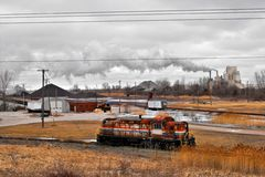 Huron, Ohio. Lake Erie port named Huron, Ohio - a classic Rust Belt town Stock Image