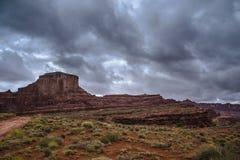 Hurra przepustka ślad Moab Utah obraz stock