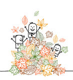 Hurrah for fall ! Royalty Free Stock Images