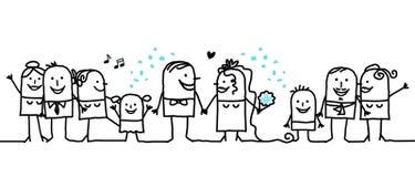 Hurrah pour les nouveaux mariés ! Image stock