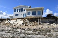 Hurrican Mathew damage, Vilano Beach, Florida Stock Photos