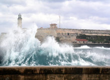 Hurricane. Athe sea of havana's city after an hurricane Royalty Free Stock Images