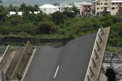 Hurricane 17. Cyclone Gamede in Reunion island, 2007 february 25-26 Stock Photos