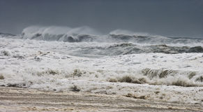 Hurricane 2008. Photo taken amid seaspray and crashing waves as Hurricane Ike's outer bands impact the Florida coast, September 2008. Almost ruined my camera Royalty Free Stock Image