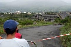 Hurricane 26. Cyclone Gamede in Reunion island, 2007 february 25-26 Royalty Free Stock Photos