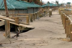 After the Hurricane. An oceanside boardwalk after Hurricane Jeanne hit Royalty Free Stock Photo