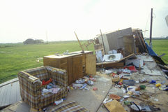 Hurricane Andrew damage, Jeanerette, LA area - National Disaster Royalty Free Stock Photos