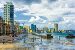 Hurricane in the city of Havana Royalty Free Stock Photo