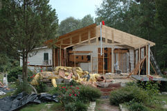 Hurricane Damage. House involved in a hurricane Royalty Free Stock Photos
