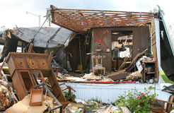 Hurricane Damage. The aftermath of a hurricane in Florida royalty free stock photography