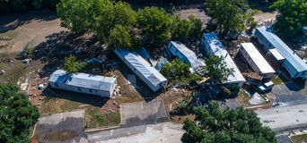 Hurricane Damage in Texas Trailer Park Royalty Free Stock Photography