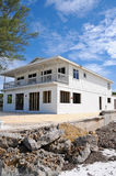 Hurricane Damaged Beach House Stock Image