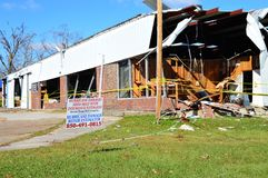 Hurricane Damaged Commercial Building stock photography