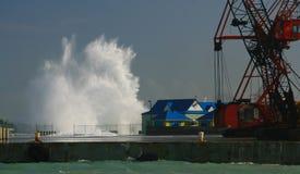 Hurricane Dean, Cayman royalty free stock photos