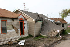 Hurricane Destruction. Houses destroyed by hurricane Katrina Stock Images