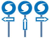 Hurricane Directional Signs Royalty Free Stock Photography