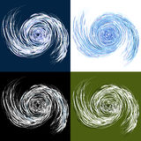 Hurricane Drawing Set Stock Photography