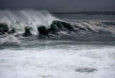 Hurricane Earl Waves. Waves from Hurricane Earl off coast of Rhode Island Royalty Free Stock Photo