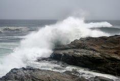 Hurricane Earl Waves. Waves from Hurricane Earl off coast of Rhode Island Royalty Free Stock Photos