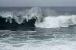 Hurricane Earl Waves. Waves from Hurricane Earl off coast of Rhode Island Stock Images