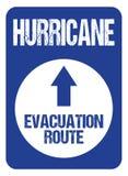 Hurricane Evacuation Route Road Sign Rough Letters Souvernire Collectors Edition stock illustration
