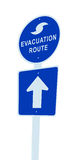 Hurricane evacuation sign. This image is a Hurricane evacuation sign, showing on a white background stock illustration