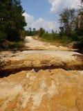 Hurricane FloBroken Road Patrick South Carolina stock photo