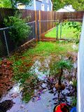 Hurricane flooding. Hurricane Matthew left some flooding in Orlando. Thankfully our power stayed on Royalty Free Stock Images