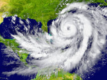Hurricane between Florida and Cuba. Huge hurricane between Florida and Cuba. Elements of this image furnished by NASA Royalty Free Stock Photo