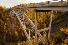 Hurricane Gulch Autumn in Denali National Park Stock Photos