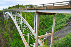 Hurricane Gulch bridge on George Parks Hwy, Alaska Stock Photos