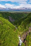 Hurricane Gulch. A scenic view of Hurricane Gulch between Anchorage and Denali National Park in Alaska stock photo