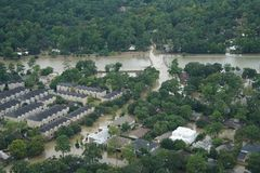 Hurricane Harvey Impacts. Aftermath. Aerial views of the areas impacted by Harvey royalty free stock photos