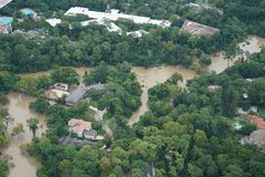 Hurricane Harvey Impacts. Aftermath. Aerial views of the areas impacted by Harvey stock photography