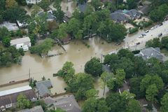 Hurricane Harvey Impacts. Aftermath. Aerial views of the areas impacted by Harvey Royalty Free Stock Photography