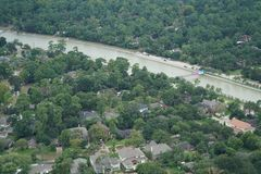 Hurricane Harvey Impacts. Aftermath. Aerial views of the areas impacted by Harvey Royalty Free Stock Image