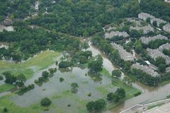 Hurricane Harvey Impacts - Aftermath. Aerial views of the areas impacted by Harvey Stock Photography