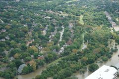 Hurricane Harvey Impacts - Aftermath. Aerial views of the areas impacted by Harvey Royalty Free Stock Photos