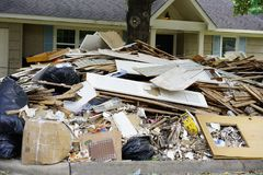 Hurricane Harvey Impacts - Aftermath Royalty Free Stock Images