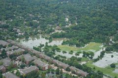 Hurricane Harvey Impacts - Aftermath. Aerial views of the areas impacted by Harvey Royalty Free Stock Photography