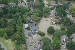 Hurricane Harvey Impacts - Aftermath. Aerial views of the areas impacted by Harvey Royalty Free Stock Images
