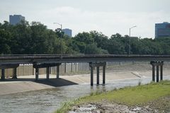 Hurricane Harvey Impacts. Aftermath. Views of watershed and bayou areas impacted by Harvey Stock Photography