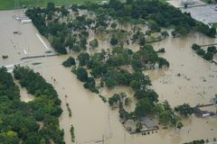Hurricane Harvey Impacts. Aftermath. Aerial views of the areas impacted by Harvey Royalty Free Stock Photo