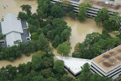Hurricane Harvey Impacts. Aftermath. Aerial views of the areas impacted by Harvey Royalty Free Stock Images