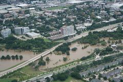Hurricane Harvey Impacts. Aftermath. Aerial views of the areas impacted by Harvey Stock Photo